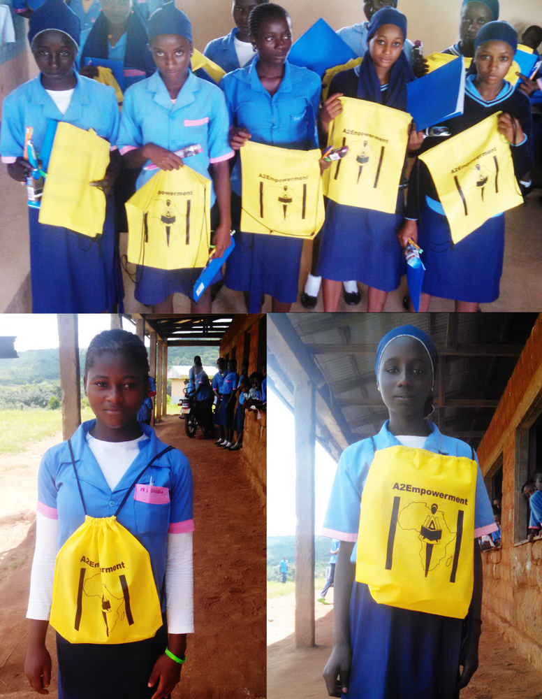 2015 - North West Region - Kumbo - Scholarship recipients receiving a donation of school supplies